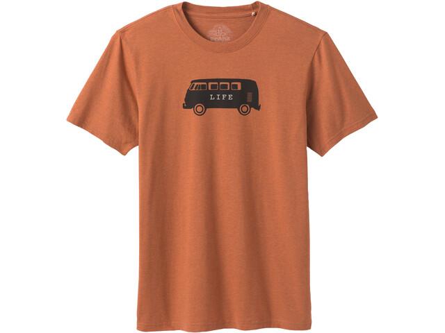 Prana Will Travel Journeyman T-shirt Homme, russet heather